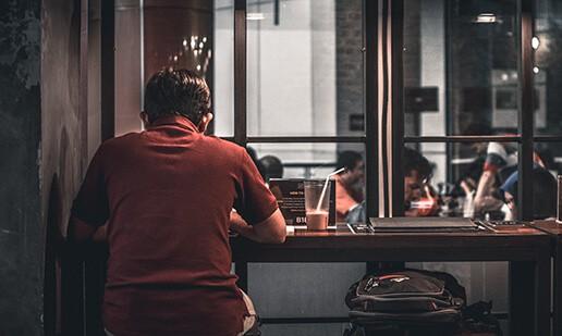 Alone at restaurant