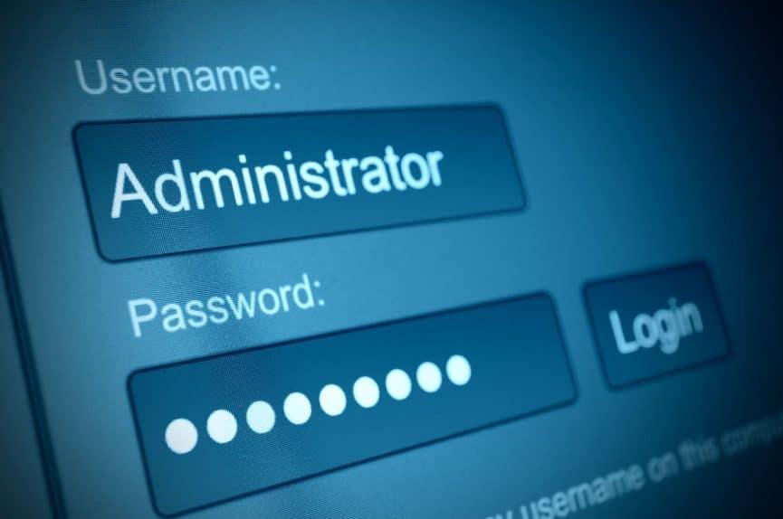 admin login and password