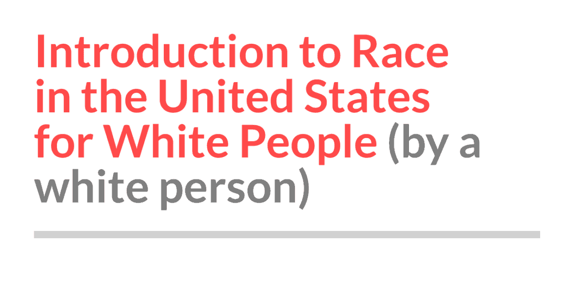 intro to race in the US